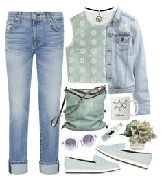 hold you down by cnuggets on Polyvore featuring polyvore, fashion, style, RED Valentino, H&M, 7 For All Mankind, Topshop, Ina Kent, Wildfox, Clinique and The French Bee