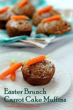 Grain Crazy: Easter Brunch Carrot Cake Muffins