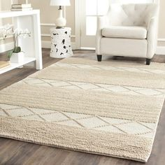 Shop for Safavieh Handmade Natura Beige Wool Rug (5' x 8'). Get free shipping at Overstock.com - Your Online Home Decor Outlet Store! Get 5% in rewards with Club O!