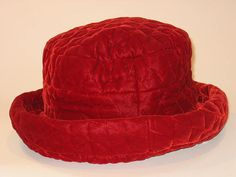 Red Pattern Quilted Hat $275