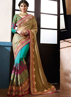 Designer Sarees online shopping in USA UK Canada|Buy Refreshing Brown Smok…