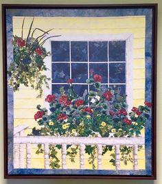 Front Porch by Nancy Zieman Landscape Giclee Art Print Log Cabin Quilts, Barn Quilts, Landscape Art Quilts, Landscapes, Nancy Zieman, Flower Quilts, Collaborative Art, Mail Art, Canvas Prints