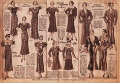 1930s Fashion for Women & Girls | Pictures, Advertisements & Prices Spiegel's, Chicago 1933 Christmas Catalog