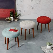 Upholstered Ottomans, Stools And Poufs