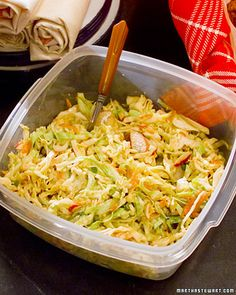 Apple Fennel Cole Slaw! Say what you want about Martha, but this is a FANTASTIC side dish. Even people who don't like fennel enjoy this.
