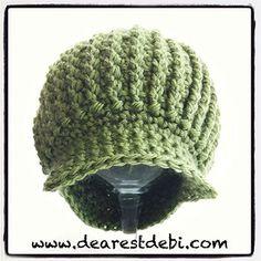 Crochet Newsboy Ribbed Baby Beanie ~ free pattern
