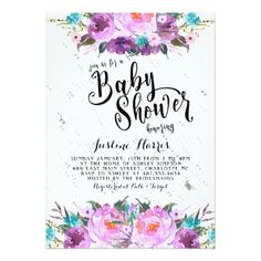 #shower - #Spring Purple Summer Bridal Shower Invitation