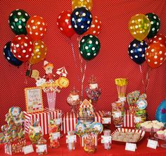 Circus Party Table ideas