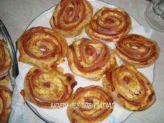 ΥΛΙΚΑ: 1 Πακέτο Σφολιάτα της αρεσκείας μας (η συσκευασία περιέχει 2 φύλα) Κέτσαπ Τυρί Gouda ή Μοτσαρέλα ή άλλο κίτρινο τυρί που μας αρέσ... Sausage, French Toast, Muffin, Cooking, Breakfast, Recipes, Food, Pizza, Kitchen