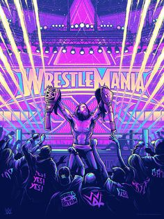 Screenprint celebrating Daniel Bryan and his win at Wrestlemania XXX. Created for & WWE. Available from Gallery 1988 now. Wrestling Posters, Wrestling Wwe, Wwe Lucha, Daniel Bryan Wwe, Dan Mumford, The Shield Wwe, Attitude, Wwe Tna, Wwe Wallpapers