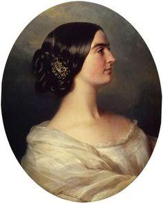 Charlotte Stuart, Viscountess Canning; by Franz Xaver Winterhalter, c. 1849.