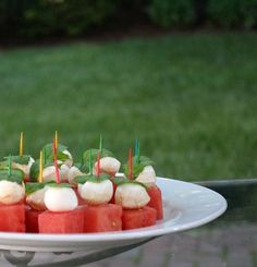 Pick up foods | Watermelon-Mozzarella Bites with Mint