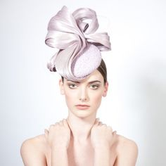 Nida- Beaded Cocktail Hat with Silk Twist