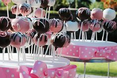 Cake lollipops. I'm trademarking his idea for my wedding!