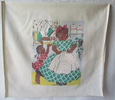 Kitchen Towel Adorable Mama Baked a Pie Little Girl