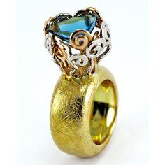 """Jardín Azulado"" by Juan Martin Pure Joy, My Precious, Confectionery, Byzantine, Classic Beauty, Anniversary Rings, Artisan Jewelry, Jewerly, Minerals"