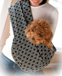 Reversible Pet Sling  Metro Black for Dogs and Cats by PetSlings, $39.95