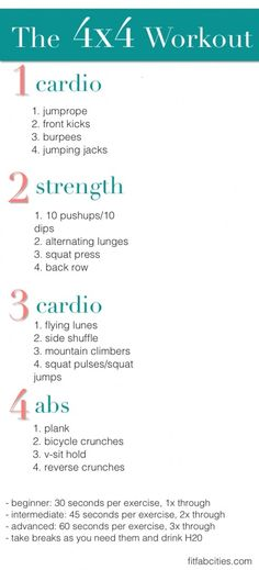4x4 Workout - No Gym Needed!!