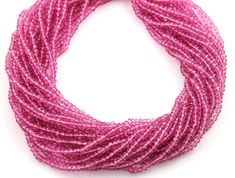 SALE Irradiated Pink Topaz Micro Faceted Rondelles 3 by Beadspoint, $9.99