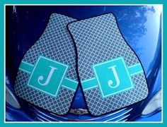 Monogrammed Gift Personalized Car Mats Monogrammed by ChicMonogram, $75.00