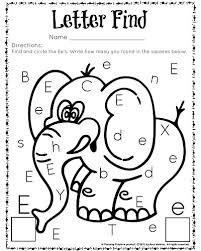 Image result for letter finder worksheet for pre-k ...
