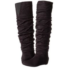 Michael Antonio Bendit Women's Boots ($65) ❤ liked on Polyvore featuring shoes, boots, over-the-knee boots, slouchy thigh high boots, thigh boots, over the knee slouch boots, hidden wedge boots and over knee boots