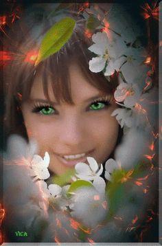500 ܓ Flower Lady Gif ܓ Ideas Gif Lady Beautiful