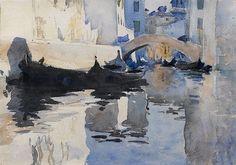 John Singer Sargent (1856 - 1925). Sandali. Watercolor on paper, 9 3/4 x 13 1/4 in
