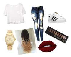 """""""Untitled #12"""" by jujubees51901 on Polyvore featuring MANGO, adidas, Michael Kors, Forever 21 and Lime Crime"""