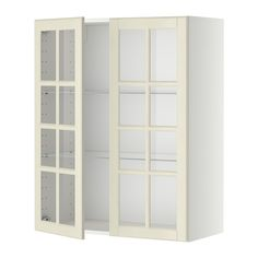 METOD Wall cabinet w shelves/2 glass drs IKEA You can customise spacing as you need, because the shelf is adjustable.