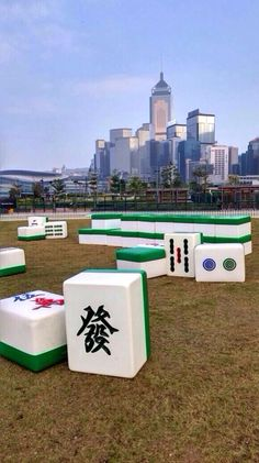G.O.D. Art at the Hong Kong Classic Car and Vintage Festival 2014 - 'The Mahjong Set': Douglas Young has been inspired by the popular local pastime of mahjong. By enlarging the pieces to an unprecedented scale, visitors enter a surreal experience. Details that would normally be overlooked such as the carving and the graphics now become prominent. The viewer is thus able to appreciate a familiar object in a new degree of consciousness.