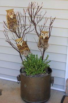 How to Make Wooden Owls Pinned by www.myowlbarn.com