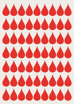 """rain drops, but not in red...this one looks like a """"donate blood"""" type poster"""