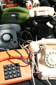 Oldskool telephones in Mauerpark Berlin