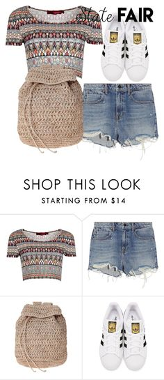"""""""State fair Boho"""" by mareehamasood246 on Polyvore featuring Boohoo, Alexander Wang, Scoop and adidas Originals"""