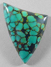 TURQUOISE designer cab Silverhawk's designer gemstones.