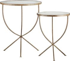 Set of 2 Jules Accent Tables    Crate and Barrel - the smaller tucks under the larger and could be nice for entertaining at the edge of the chaise of the sectional.