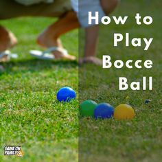 How to Play Bocce Ball Outdoor Games To Play, Games To Play Outside, Family Games Indoor, Cool Games To Play, Water Games For Kids, Summer Activities For Kids, Fun Games, Indoor Games, Group Activities