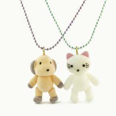 super duper cute BFF necklaces, set of 2