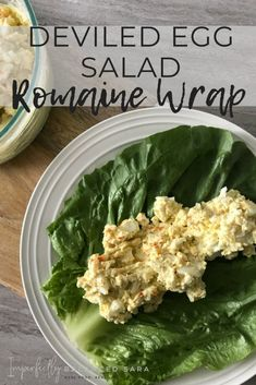 Feb 2020 - This healthy and delicious egg salad recipe is mayo free and perfectly refreshing served on a romaine lettuce wrap. Or on bread. Your choice! Chicken And Veggie Recipes, Lettuce Recipes, Salad Recipes, Healthy Lunch Wraps, Healthy Breakfast Recipes, Wrap Recipes, Healthy Dinner Recipes, Deviled Egg Salad, Lettuce Wraps