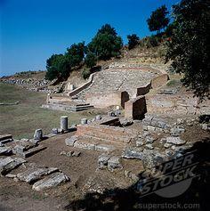 Ancient Ruins Of A Roman Theatre, Apollonia, Albania