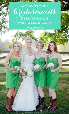 10 important things you need to know to be the perfect #bridesmaid ...study up! #weddingtips