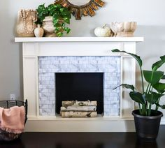 Latest No Cost faux Fireplace Hearth Strategies Most current Screen Faux Fireplace heater Ideas I love an excellent fau. Faux Fireplace Mantels, Fireplace Seating, Simple Fireplace, Fireplace Bookshelves, Fireplace Built Ins, Shiplap Fireplace, Rustic Fireplaces, Fireplace Hearth, Fireplace Surrounds