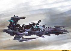 Игры,art,красивые картинки,warhammer 40000,фэндомы,dark eldar,байк,raider