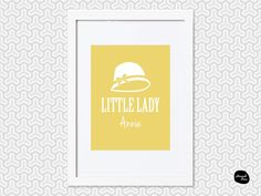 LITTLE LADY DESIGN ~ Personalised Wall Art - Home Decor Print - Hat Design by HannahDeanDesigns on Etsy