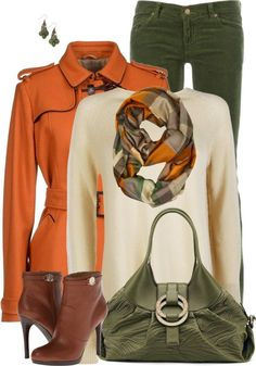 A fashion look from September 2013 featuring beige long sleeve shirt, sweater pullover and armani jeans jacket. Browse and shop related looks. Casual Fall Outfits, Fall Winter Outfits, Stylish Outfits, Autumn Winter Fashion, Looks Style, My Style, Look Fashion, Fashion Outfits, Winter Mode