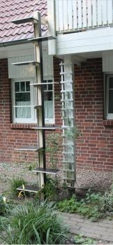 Katzenleiter, Katzentreppe, Katzenrampe, cat ladder -JP!Holzdesign