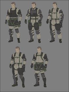 Metal Gear Online concept art by Anthony Trahan.