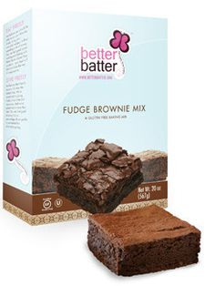 Better Batter Gluten Free Flour | Better Batter Gluten Free Fudge Brownie Mix. I tried making these last night for the first time, and they're amazing! You'd never even guess they're gluten- and dairy-free.