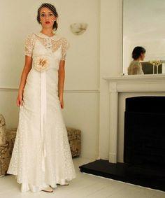 Eduarda's blog: Organza vintage wedding dress 30s Together with ...